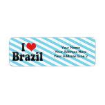 Amo el Brasil Etiquetas De Remite