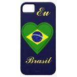 Amo el Brasil - Eu amo el Brasil - en portugués iPhone 5 Carcasas