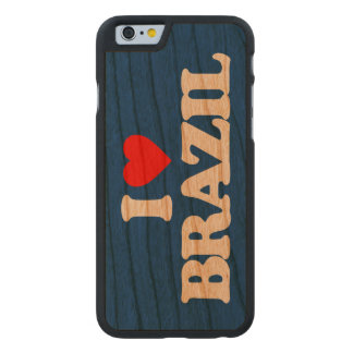 AMO EL BRASIL FUNDA DE iPhone 6 CARVED® SLIM DE CEREZO