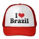 Amo el Brasil Gorras De Camionero