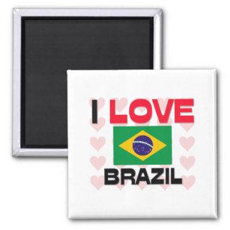 Amo el Brasil Imán De Nevera