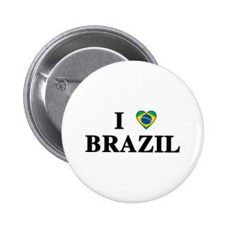 Amo el Brasil Pin Redondo 5 Cm