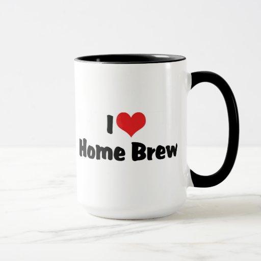 Amo el Brew casero del corazón - amante de la Taza