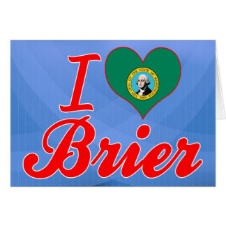 Amo el Brier, Washington Felicitación