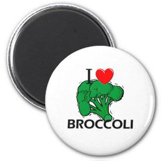 Amo el bróculi imán redondo 5 cm