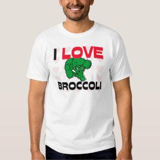Amo el bróculi playera