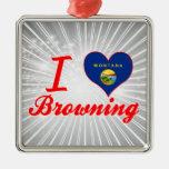 Amo el broncear, Montana Ornaments Para Arbol De Navidad