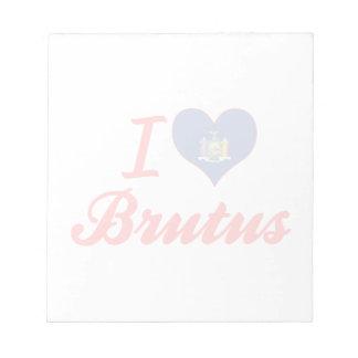 Amo el Brutus, Nueva York Bloc De Papel