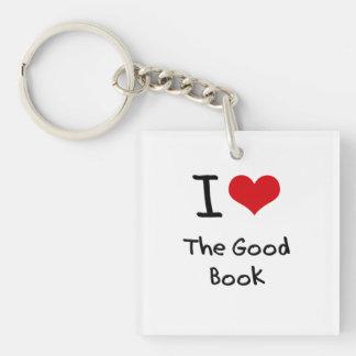 Amo el buen libro llavero cuadrado acrílico a una cara