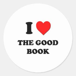 Amo el buen libro pegatina redonda