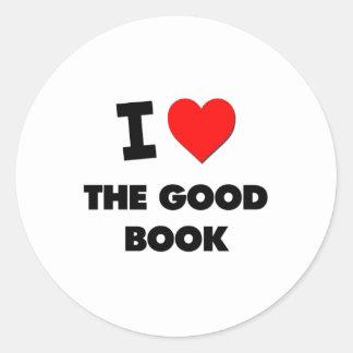 Amo el buen libro etiqueta redonda