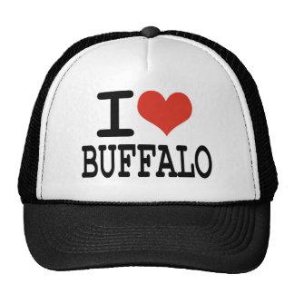 Amo el búfalo gorros bordados