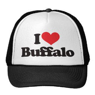 Amo el búfalo gorras