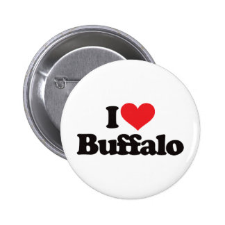 Amo el búfalo pin redondo de 2 pulgadas