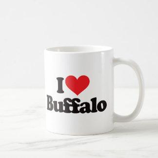 Amo el búfalo tazas de café