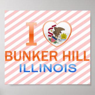 Amo el Bunker Hill, IL Póster