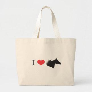 Amo el caballo bolsas de mano