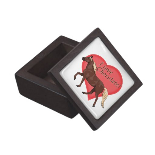 Amo el caballo de la montaña rocosa del chocolate caja de regalo de calidad