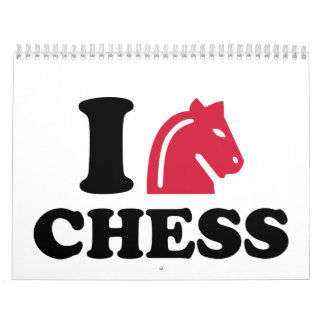 Amo el caballo del ajedrez calendarios