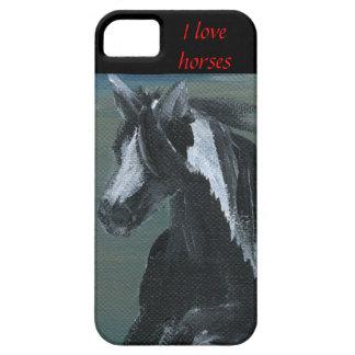 Amo el caballo gitano del vanner del caso del iPhone 5 carcasa
