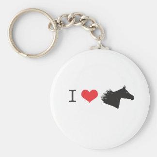 Amo el caballo llavero redondo tipo pin