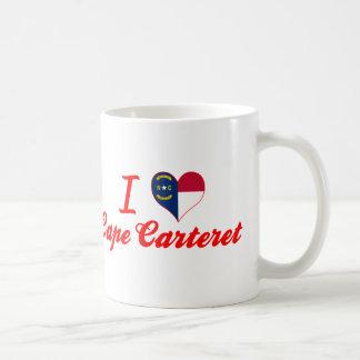 Amo el cabo Carteret, Carolina del Norte Taza De Café