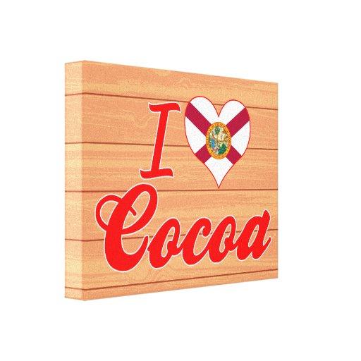 Amo el cacao, la Florida Lona Envuelta Para Galerias