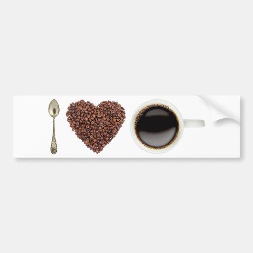Amo el café 01 pegatina para auto
