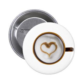 Amo el café 03 pin redondo de 2 pulgadas