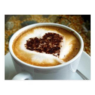 Amo el café - arte de Latte Postales
