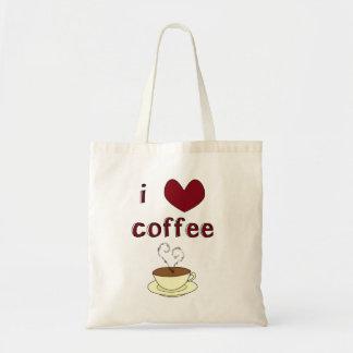 Amo el café bolsa tela barata