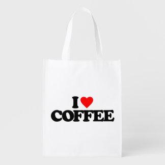 AMO EL CAFÉ BOLSAS REUTILIZABLES