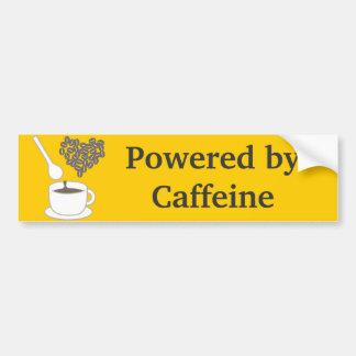 Amo el café etiqueta de parachoque