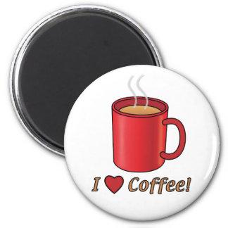 ¡Amo el café! con la taza roja Imán Para Frigorífico