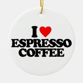AMO EL CAFÉ DEL CAFÉ EXPRESS ADORNO NAVIDEÑO REDONDO DE CERÁMICA