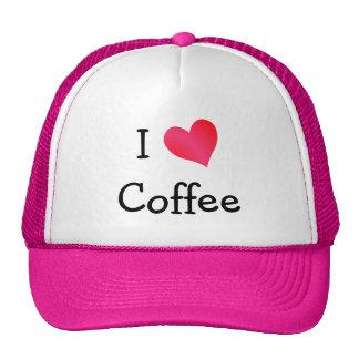 Amo el café gorras de camionero