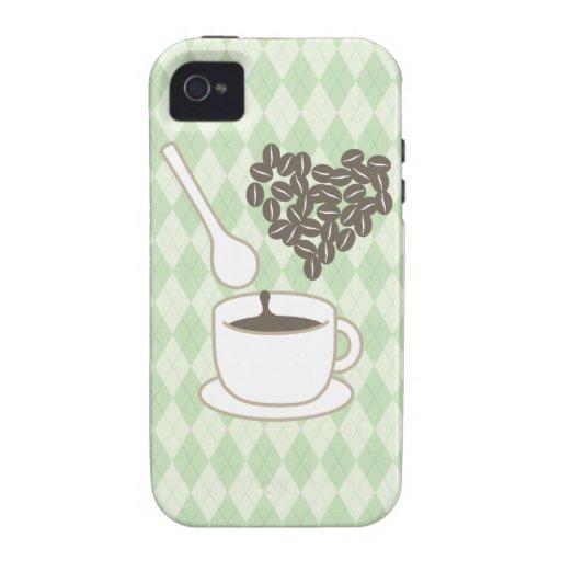 Amo el café iPhone 4/4S fundas