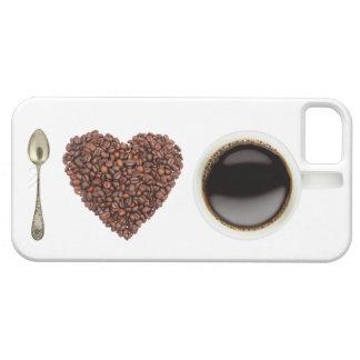 Amo el café iPhone 5 carcasa