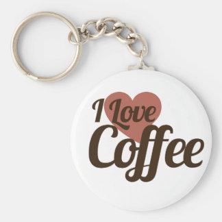 Amo el café llavero redondo tipo pin