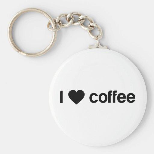 Amo el café llaveros