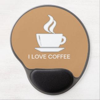Amo el café Mousepads Alfombrilla De Raton Con Gel
