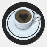 AMO el café Pegatinas