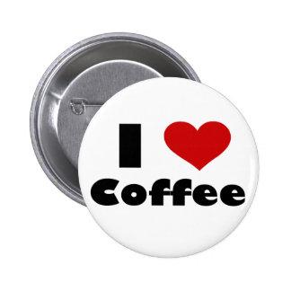 Amo el café pin redondo 5 cm