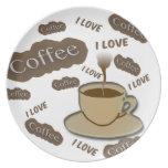 Amo el café plato de cena
