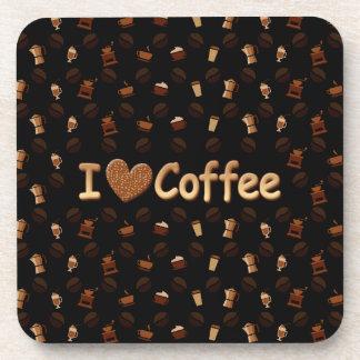 Amo el café posavasos de bebidas