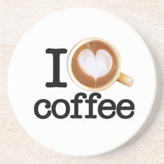 Amo el café posavasos personalizados