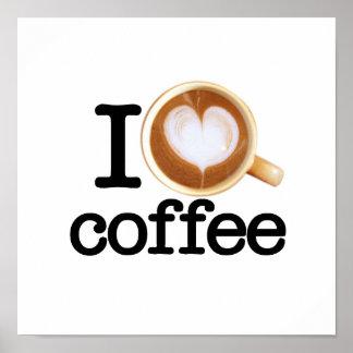 Amo el café póster