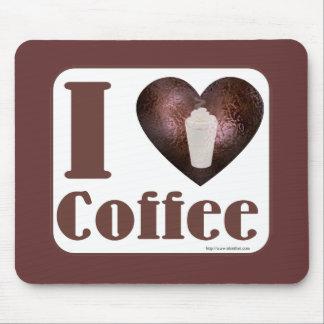 Amo el café también alfombrilla de ratón