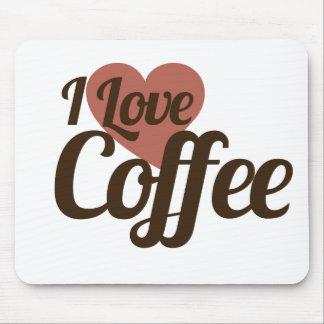 Amo el café tapetes de raton