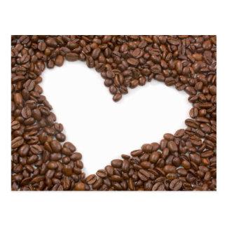 Amo el café tarjeta postal